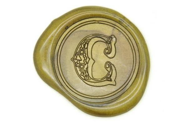 Personalized Old English Initial Wax Seal Stamp Backtozero