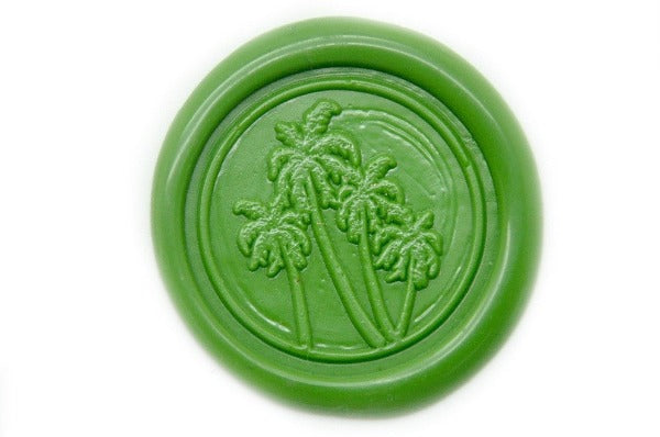 Palm Trees Wax Seal Stamp, Backtozero  - 1