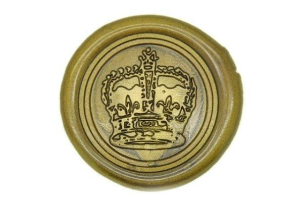 Royal Crown King Queen Wax Seal Stamp Backtozero