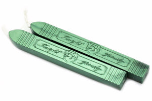 Metallic Green Wick Sealing Wax Stick - Sealing Wax - Backtozero