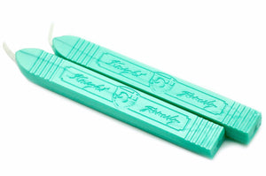 Metallic Light Green Wick Sealing Wax Stick - Sealing Wax - Backtozero