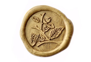 Acorn Leaf & Stem Wax Seal Stamp - Wax Seal Stamp - Backtozero
