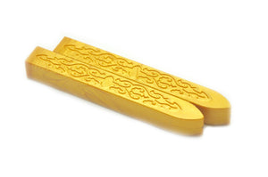 Gold Non-Wick Filigree Sealing Wax Stick - Sealing Wax - Backtozero