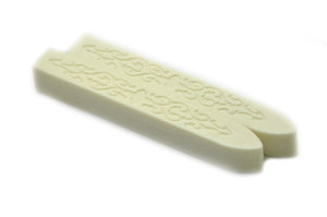 Cream White Non-Wick Filigree Sealing Wax Stick - Sealing Wax - Backtozero