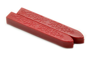 Red Non-Wick Filigree Sealing Wax Stick - Sealing Wax - Backtozero
