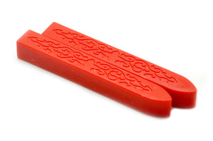 Sharp Red Non-Wick Filigree Sealing Wax Stick, Backtozero  - 1