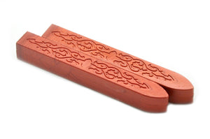 Metallic Palm Red Non-Wick Filigree Sealing Wax Stick, Backtozero  - 1
