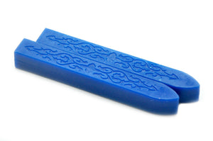 Blue Filigree Non-Wick Sealing Wax Stick - Sealing Wax - Backtozero