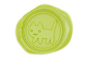 Cute Cat Wax Seal Stamp - Wax Seal Stamp - Backtozero