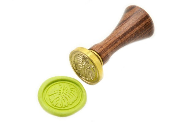 Monstera Leaf Wax Seal Stamp - Wax Seal Stamp - Backtozero