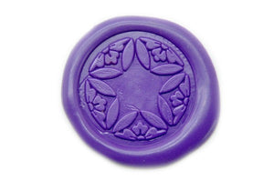 Japanese Kamon Shippo Star Floral Deco Wax Seal Stamp - Wax Seal Stamp - Backtozero