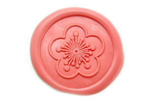 Plum Flower Wax Seal Stamp Designed by Khuê Tran | Available in 4 Sizes - Wax Seal Stamp - Backtozero