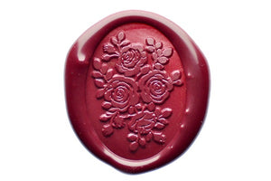 Roses Wax Seal Stamp - Wax Seal Stamp - Backtozero