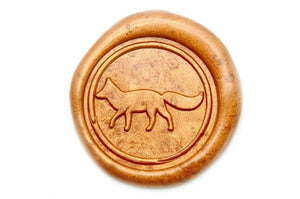 Fox Wax Seal Stamp | Available in 4 Sizes - Backtozero