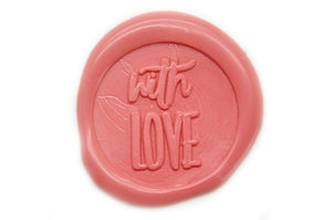 With Love Wax Seal Stamp Designed by Yen Chin - Wax Seal Stamp - Backtozero