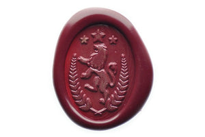 Lion Wreath Wax Seal Stamp - Wax Seal Stamp - Backtozero