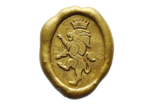 Lion Crown Wax Seal Stamp - Wax Seal Stamp - Backtozero