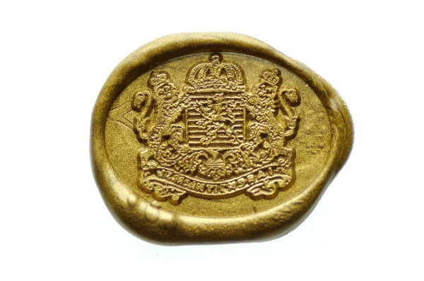 Heraldic Coat Of Arms Lion Crown Crest Wax Seal Stamp