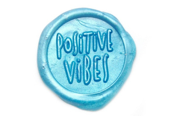 Positive Vibes Wax Seal Stamp Designed by Jo, Backtozero  - 1