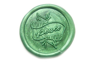 Peace Wax Seal Stamp Designed by Jo, Backtozero  - 1