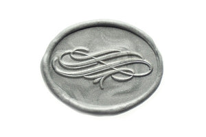 Calligraphy Flourish Infinity Wax Seal Stamp - Wax Seal Stamp - Backtozero