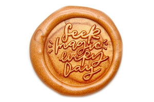 Seek Magic Everyday Wax Seal Stamp Designed by Jo - Wax Seal Stamp - Backtozero