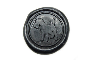 Fox Terrier Wax Seal Stamp | Available in 4 Sizes - Backtozero