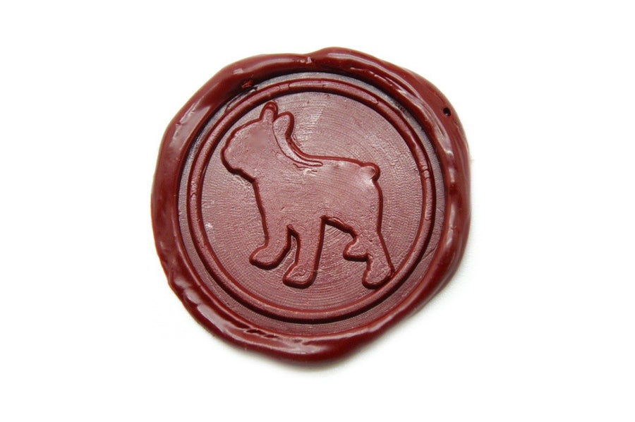 Boston Terrier Wax Seal Stamp | Available in 4 Sizes - Wax Seal Stamp - Backtozero