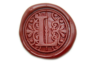 Filigree Monogram Wax Seal Stamp - Wax Seal Stamp - Backtozero