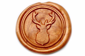 Deer Antler Wax Seal Stamp | Available in 4 Sizes - Wax Seal Stamp - Backtozero