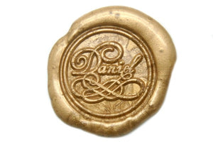 Personalized Fancy Calligraphy Wax Seal Stamp - Backtozero