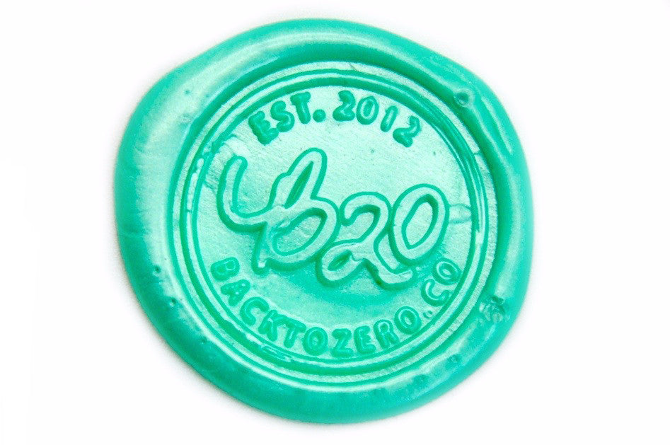 Metallic Light Green Wick Sealing Wax Stick, Backtozero  - 2