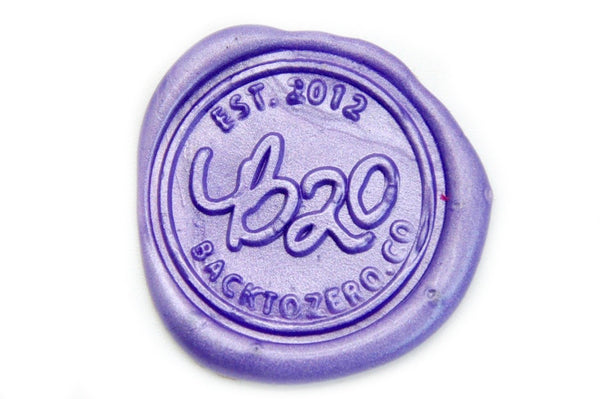 Metallic Purple Wick Sealing Wax Stick, Backtozero  - 1