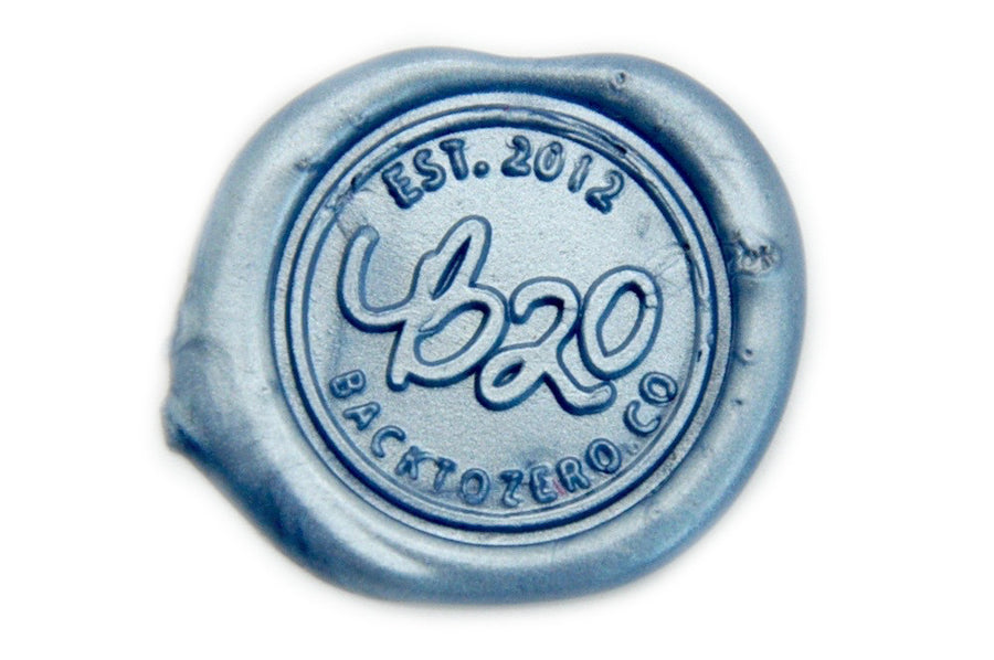 Metallic Gray Blue Wick Sealing Wax Stick - Sealing Wax - Backtozero