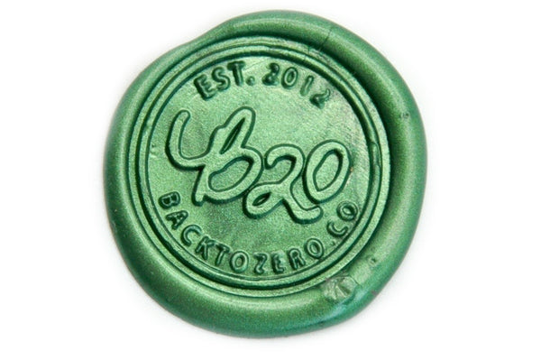 Metallic Green Wick Sealing Wax Stick, Backtozero  - 1