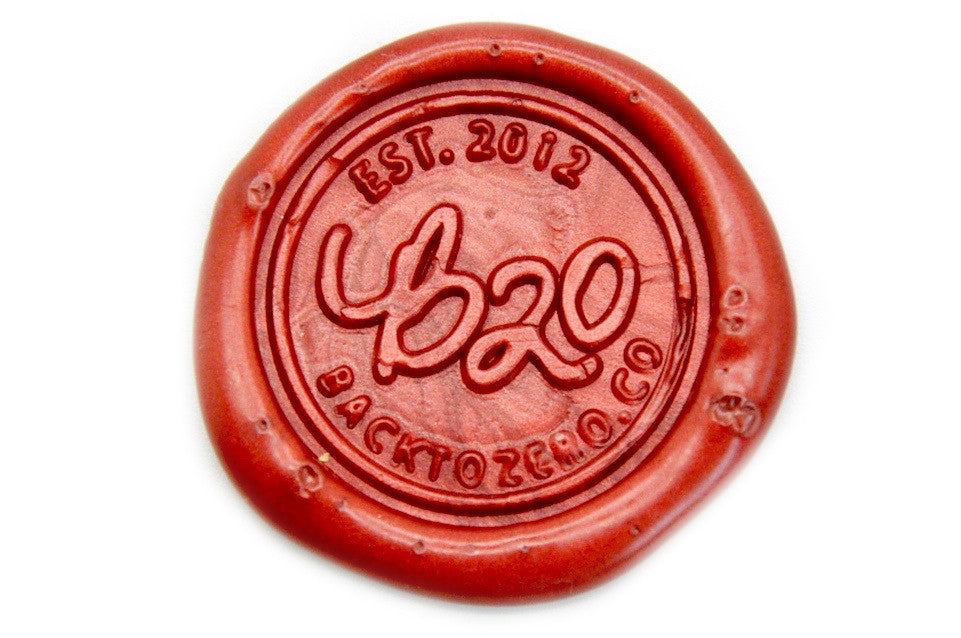 Metallic Red Wick Sealing Wax Stick, Backtozero  - 2