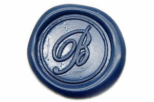 Script Initial Wax Seal Stamp, Backtozero  - 1
