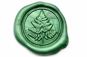 Fern Wax Seal Stamp - Wax Seal Stamp - Backtozero