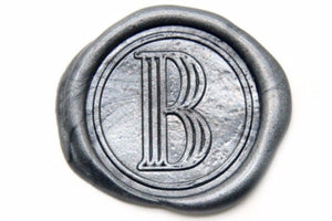 Art Deco Initial Wax Seal Stamp | Available in 4 Sizes - Wax Seal Stamp - Backtozero