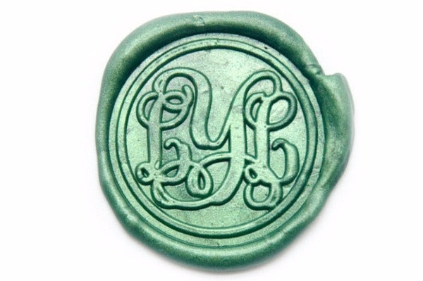 Personalized Vine Monogram Initial Wax Seal Stamp