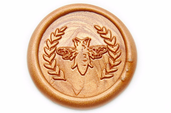 Bee Wreath Wax Seal Stamp, Backtozero  - 1