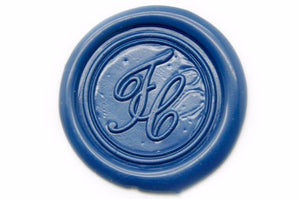 Script Monogram Wax Seal Stamp - Wax Seal Stamp - Backtozero