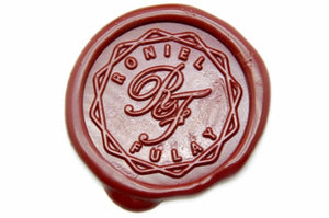 Interlock Chain Monogram Wax Seal Stamp - Wax Seal Stamp - Backtozero