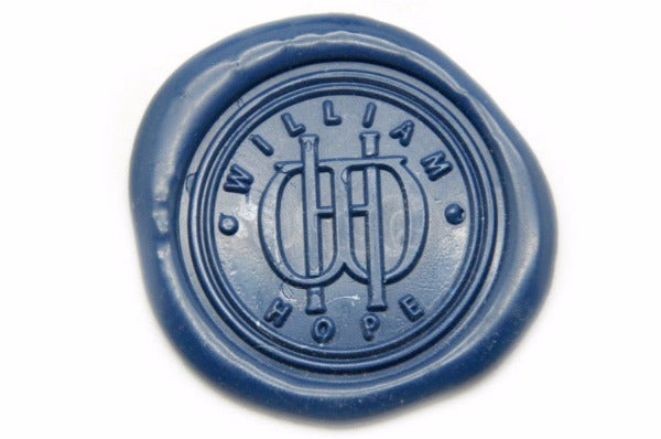 Interlock Monogram Wax Seal Stamp - Wax Seal Stamp - Backtozero