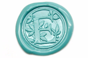 Leafy Initial Wax Seal Stamp | Available in 4 Sizes - Wax Seal Stamp - Backtozero