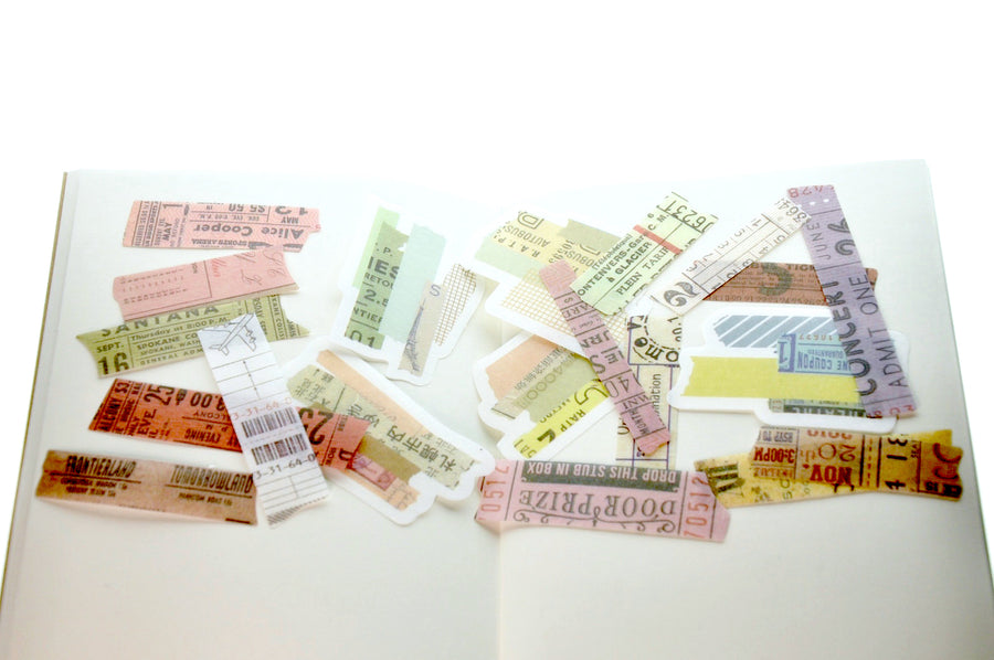 Translucent Stickers Set | Washi Tape D - Sticker - Backtozero