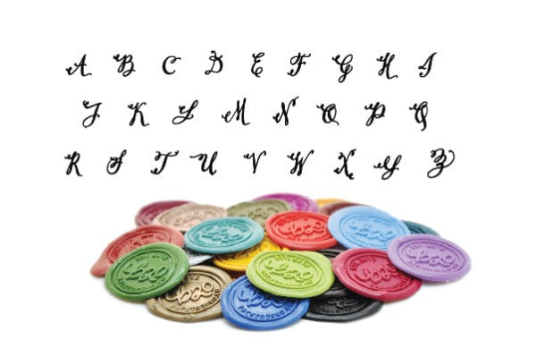 Calligraphy Initial Wax Seal Stamp | Available in 4 Sizes