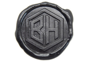 Hexagram Double Initials Wax Seal Stamp - Wax Seal Stamp - Backtozero