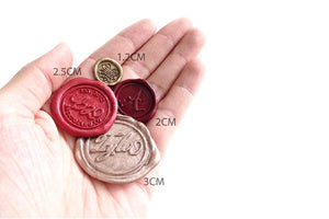 Linen & Leaf Modern Calligraphy Monogram Wax Seal Stamp - Wax Seal Stamp - Backtozero