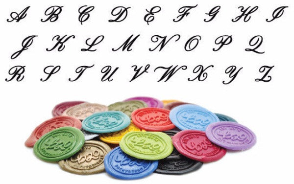 Script Initial Wax Seal Stamp | Available in 4 Sizes - Backtozero